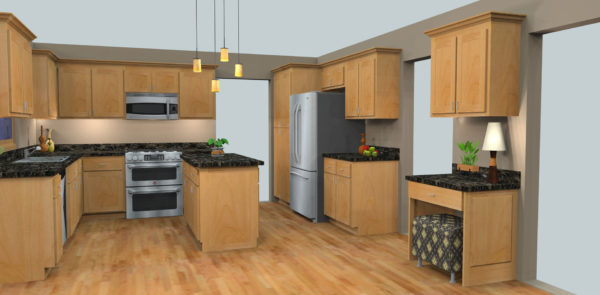 3D Design - Full Oak Kitchen