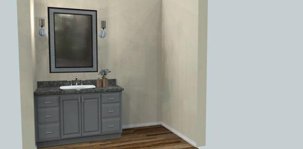 Bathroom Vanity, Raised Panel Painted Cabinets