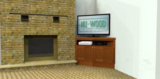Custom TV Cabinet 3D Design