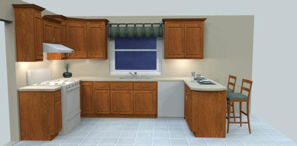 Full Kitchen Oak Reface