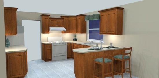 Full Oak Custom Kitchen Reface