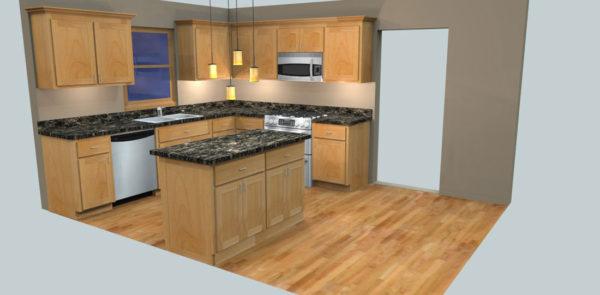 Full Oak Kitchen