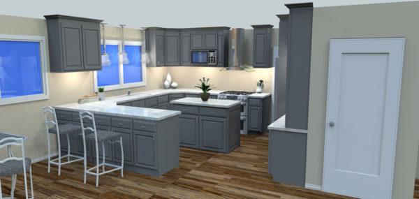 Full Painted Custom Kitchen