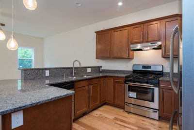 Cherry Cabinets in a Kitchen