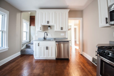 White Cabinets in a Kitchen