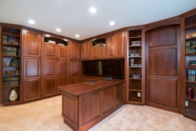 Custom Cherry Cabinets in an Office