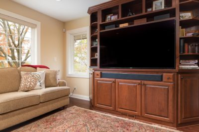 Custom Cherry Cabinets, Entertainment Center
