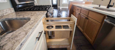 Pullout Drawer in a Base Cabinet - Hardware and Accessories